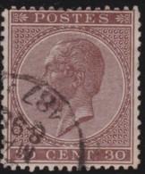Belgie    .   OBP  .      19     .     O        .      Gebruikt      .  /  .     Oblitéré - 1865-1866 Linksprofil
