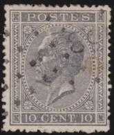 Belgie    .   OBP  .      17A       .     O        .      Gebruikt      .  /  .     Oblitéré - 1865-1866 Linksprofil