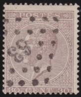 Belgie    .   OBP  .      19A       .     O        .      Gebruikt      .  /  .     Oblitéré - 1865-1866 Linksprofil