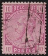 Belgie    .   OBP  .      38        .     O        .      Gebruikt      .  /  .     Oblitéré - 1883 Leopold II
