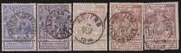 Belgie    .   OBP  .     71/73       .     O        .      Gebruikt      .  /  .     Oblitéré - 1894-1896 Exhibitions