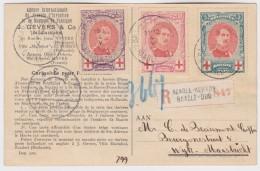 Belgie    .   OBP  .    132/134  Op Postkaart        .     O        .      Gebruikt      .  /  .     Oblitéré - 1894-1896 Exhibitions