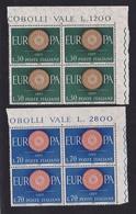 1960 Italia Italy Repubblica EUROPA CEPT EUROPE  45 Serie Di 2v. MNH** - Europa-CEPT