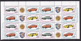 1985 Italia Italy Repubblica AUTOMOBILI - CARS 4 Serie Di 4v. MNH** In Blocchi Di 4 - Automobili
