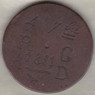 A IDENTIFIER, 4 Septembre 1881 R.G – A.D., Inscription Sur Pièce De 4 Kharub AH 1276. Tunis - France