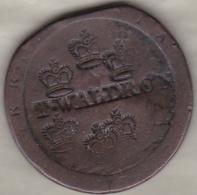 A IDENTIFIER, To Identify,  T-WALDRON , 6 Couronnes , Lion Sur 1 Penny George III - United Kingdom
