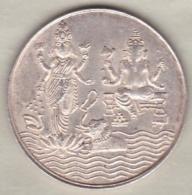 Inde . Monnaie Jeton De Temple , En Argent. - Jetons & Médailles