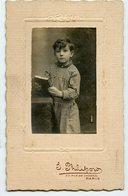 Jeune Garçon Enfant Kid Boy Ecole School Scolaire Portrait Legende Dos Naif Folk Cute Bonne Année Marraine - Anonymous Persons