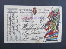 BRIEF Posta Militare Zona Guerra 1918 ////  D*32668 - 1900-44 Victor Emmanuel III.