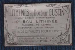 BOITE ANCIENNE EN TOLE LITHINES DU DOCTEUR GUSTIN Paris XVIII Poudre Pour Produire De L' Eau Gazeuse - Boîtes