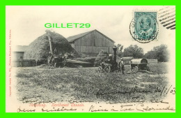 AGRICULTURE - TRACTOR, THRESHING, NORTHWEST CANADA -  IMPOERIAL SERIES No 634 - PICTURE POSTCARD CO - TRAVEL IN 1905 - - Cultures