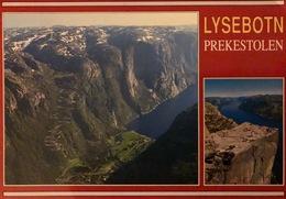 Postcard-Lysebotn-Prekestolen-Rogaland-Eldre-Norway-Norge-Beautiful-Vakkert - Norvège