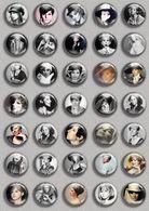 Barbra Streisand Music Fan ART BADGE BUTTON PIN SET (1inch/25mm Diameter) 35 DIFF - Music