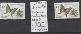 TIMBRE DE FRANCE NEUF** LUXE  VARIETE Nr 2094 A = COULEUR BRUN ABSENTE  500€ - Errors & Oddities