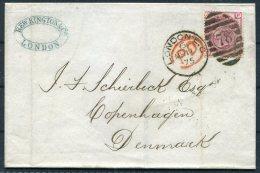 1875 GB QV 3d RRose (plate 16) Entire Rew Kingston & Co. London 78 Duplex - Copenhagen Denmark - Storia Postale