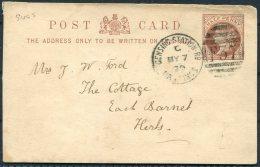 1879 GB Stationary Postcard Gensing Station Rd Hastings F37 Duplex - East Barnet / New Barnet - 1840-1901 (Victoria)