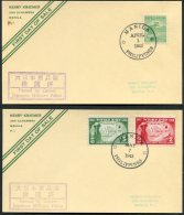 1943 7 X Manila Japanese Military Police Censor First Day Postcards - Philippines