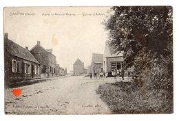36567-ZE-59-CANTIN-Après La Guerre-La Rue D' Arleux-------------animée - Francia