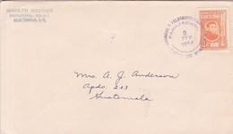 SOBRE ENVELOPE CIRCULADO GUATEMALA 1954- BLEUP - Guatemala
