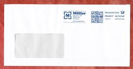 Brief, FRANKIT Pitney Bowes 4D060.., Mueller Ulm, 70 C, 2017 (53158) - BRD