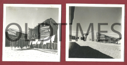 PORTUGAL - FURADOURO - LOTE 2 PCS. - CASAS DE PESCADORES - 1950 REAL PHOTO - Photographs