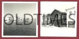 PORTUGAL - AVEIRO - LOTE 2 PCS. - CASAS JUNTO A RIA - 1950 REAL PHOTO - Photographs