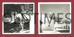 PORTUGAL - LOULE - ALTE - LOTE 2 PCS. - CENTRO DA VILA E VISTA JUNTO A RIBEIRA  - 1950 REAL PHOTO - Photographs