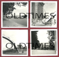 PORTUGAL - PORTO - LOTE 4 PCS. - CONSTRUCAO DA PONTE DA ARRABIDA - 1950 REAL PHOTO - Photographs