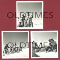 PORTUGAL - FURADOURO - LOTE 3 PCS. - PESCADORES - 1950 REAL PHOTO - Photographs