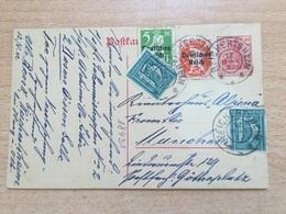 K5 Deutsches Reich Ganzsache Stationery Entier Postal P 121A Von Reichertsheim Nach München - Deutschland
