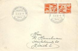 "Sonderstempel  ""HOSPES - Kochkunstausstellung, Bern""  (Kehrdruck)          1954 - Switzerland"