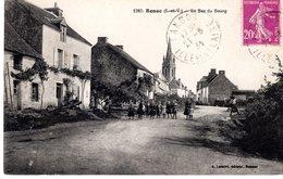 Cpa 35_RENAC - Le Bas Du Bourg, Vue Sur Le Clocher, Belle Animation - Other Municipalities