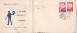 FDC. IV CENSO NACIONAL MANUFACTURERO 1968. DIRECCION ESTADISTICA Y CENSO CHILE- BLEUP - Chile