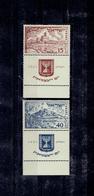 MOYEN ORIENT 1951 - ISRAEL XX LUXE - N°43/44 AVEC TABS - Israel