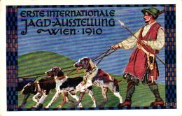Jagd Ausstellung Wien, 1910, Jäger Mit Hunden - Cani