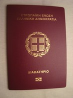 Greece Expired Collectible Biometric Passport Reisepass Passeport With USA Visa #6 - Documents Historiques