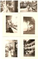 Lot De 9 Photographies De Côte D'Ivoire, Vie De Famille à Abidjan, Immeuble, Joli Fauteuil, Photos De 1956 - Places