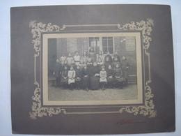 2 Anciennes Photos D'école Une Signée A Fourre Rouen 160 X 115 Mm  180 X 130 Mm Sur Carton  T.B.E. - Photographs