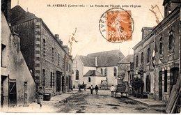 Cpa 44_AVESSAC - La Route De Plessé, Près L'église, Animation éloignée, Attelages - France