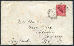 1891 Queensland Brisbane Board Of Waterworks Cover - Chelston Torquay England - Briefe U. Dokumente