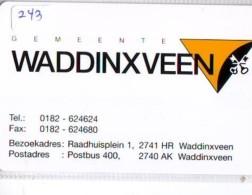 NEDERLAND CHIP TELEFOONKAART CRE 243 * WADDINXVEEN * Telecarte A PUCE PAYS-BAS * ONGEBRUIKT MINT - Netherlands