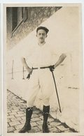 Jeune Homme  Young Man  Beauty Elegance  Pose Portrait Cavalier Cravache - Anonymous Persons