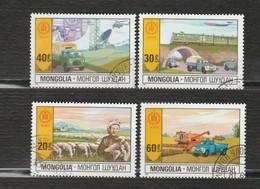 Mongolie - Lot 4 Timbres - Les Transports, L'élevage, La Technologie Et L'agriculture - Année 1981 - Mongolie
