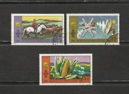 Mongolie - Lot 3 Timbres - L'élevage, La Technologie Et L'agriculture - Année 1972 - Mongolie