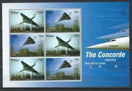 Palau. Scott # 868-69a, MNH Sheetet Of 6. Concorde 2006. Cat Value $18.00 - Palau
