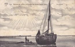 Bateau De Pêche Attendant La Marée Haute Pour Le Départ, De Panne, Knokke, Nieuwpoort, Middelkerke ?? (pk47833) - Knokke