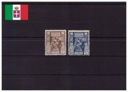 Libia Italiana 1926/1929 - MNH ** - Sibilla Libica, Dentellati 11 - Unificato Nr. 55-56 (ita250) - Libya