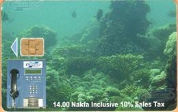 Erithrea - Eritel, ER-ERI-0014A, The Underwater Scene, CN: 63, 14 Nfk, Heavily Used - Eritrea
