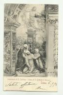 SIENA - SVENIMENTO DI S.CATERINA - CHIESA DI S.DOMENICO 1904 - RETRO TIMBRO HOTEL CONTINENTAL  - VIAGGIATA FG - Siena