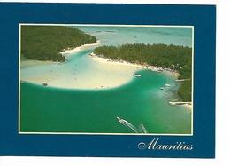 MAURITIUS : L'Ile Aux Cerfs / CPM Voyagée 1996 / TBE / Timbre Escargot - Mauritius